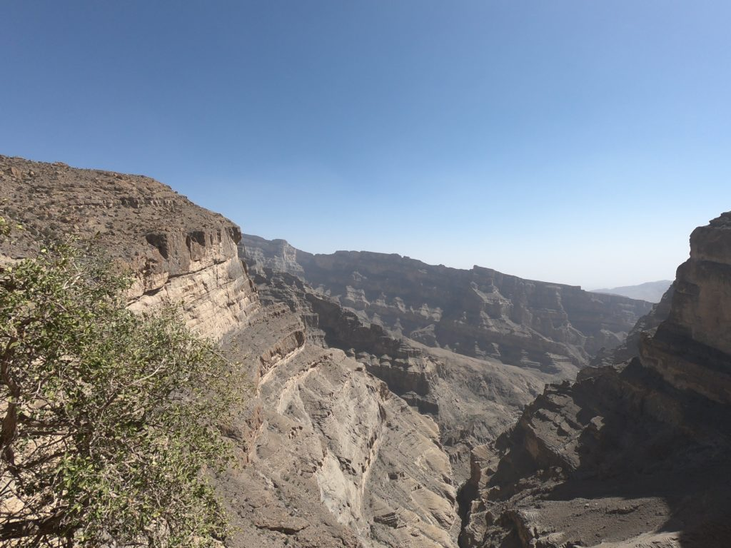 Il Grand Canyon dell'Oman a Jebel Shams sui Monti Hajar