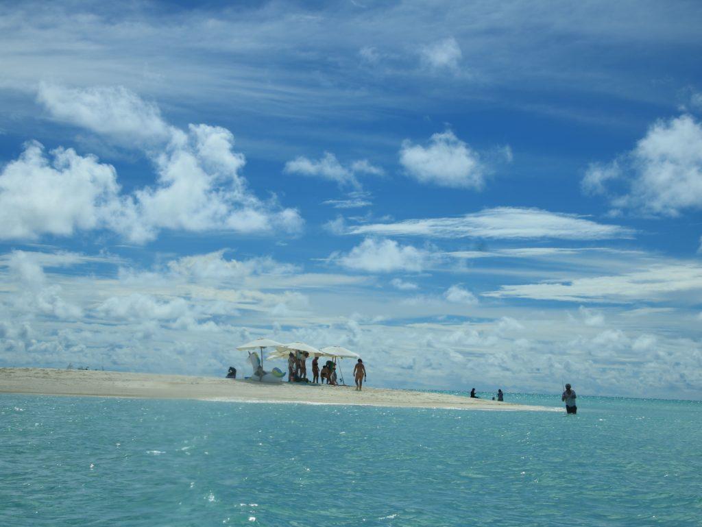 Lingua di sabbia incontrata in escursione, maldive in guesthouse