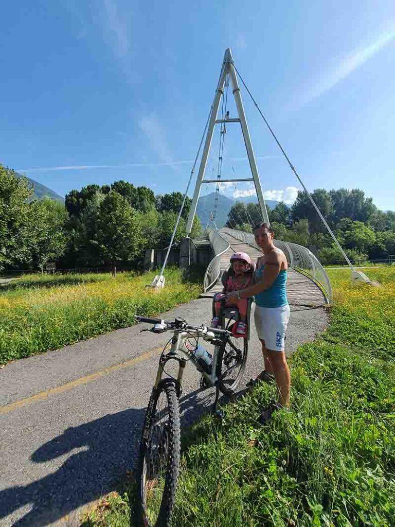 Sentiero Valtellina in bicicletta